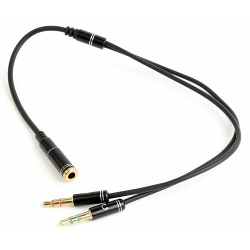 3.5mm to 2x 3.5mm jack mikrofon és fejhallgató elosztó