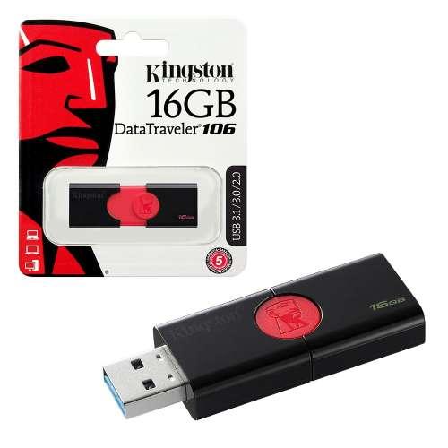 Kingston Data Traveler 106 USB 3.1 Flash Drive Memory Stick - 16GB pendrive