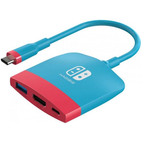 HAGiBiS USB-C multiport adapter Nintendo Switch-hez