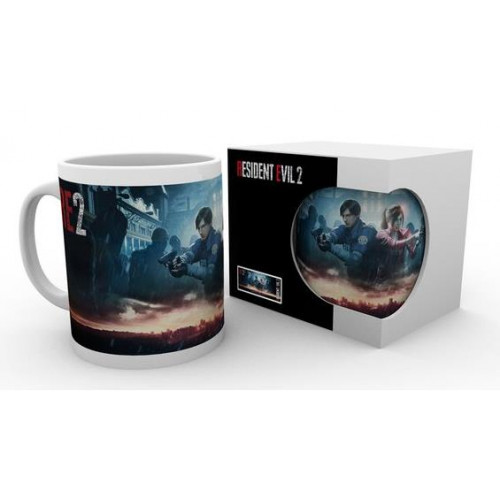 Resident Evil 2 - Leon & Claire Among Zombies bögre (bontatlan)