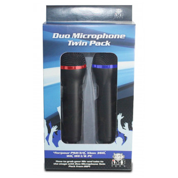 iMP Duo Microphone Twin Pack for PS3 PS4 XBOX 360 Wii Wii U and PC (bontatlan)