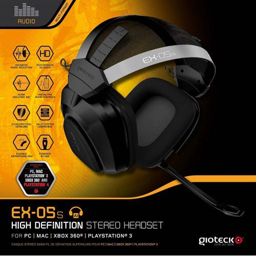 Gioteck EX-05S Universal High Definition Stereo Headset (használt)